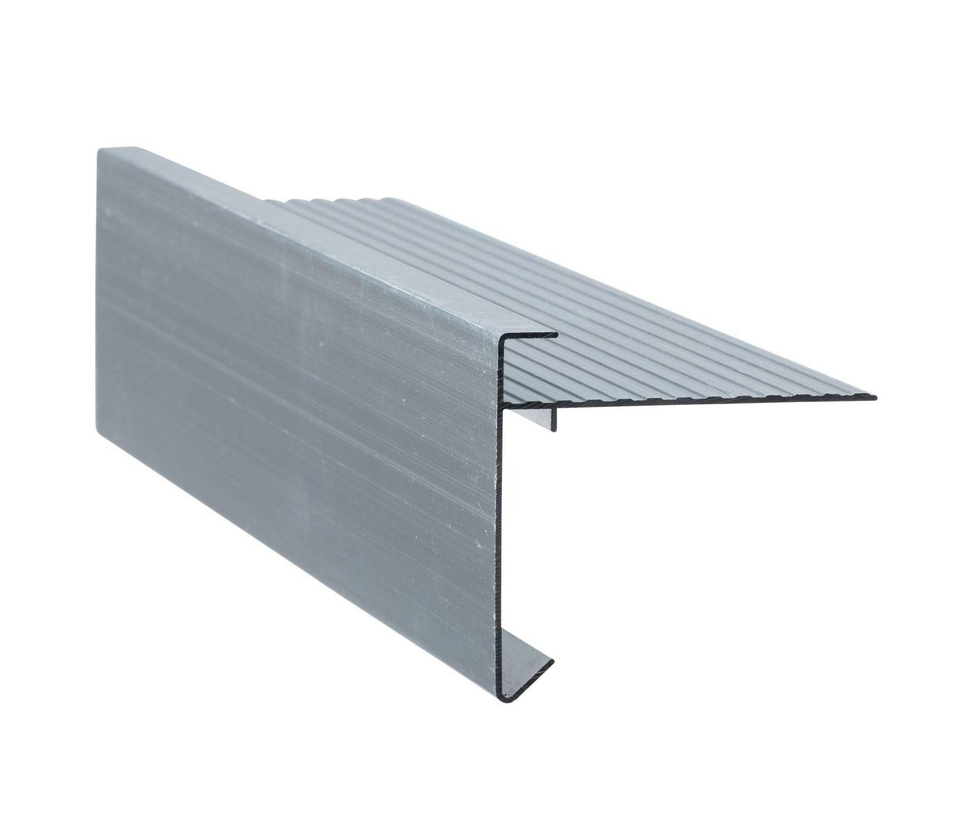 Aluminium Daktrim   Recht   Lengte 250 cm   Brute + RAL